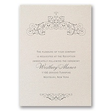 Elegant Arrangement - Reception Card