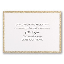 Golden Glow - Reception Card