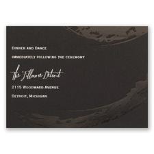Bold & Refined - Foil Reception Card