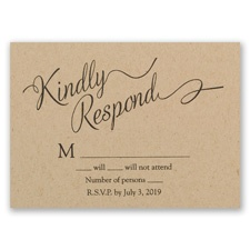 Beautifully Krafted - Response Card