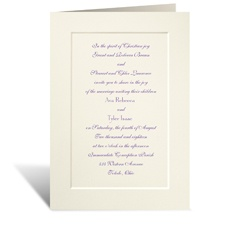 Tradition Triumphs Large Wedding Invitation