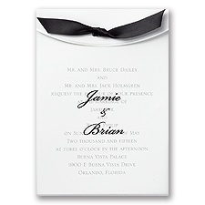 Pure Elegance Wedding Invitation
