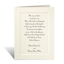Tradition Triumphs Small Wedding Invitation