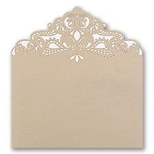 Ecru Shimmer - Laser Cut Envelope Liner