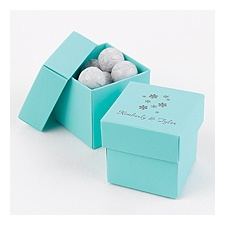 Aqua Two-Piece Favor Boxes