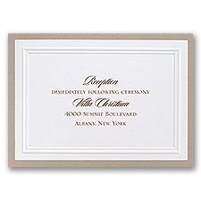 Sophisticated Border - Reception Card