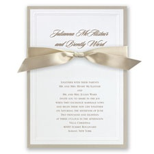 Sophisticated Border Wedding Invitation