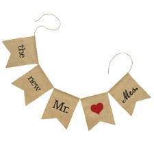 The New Mr. and Mrs. Burlap Banner