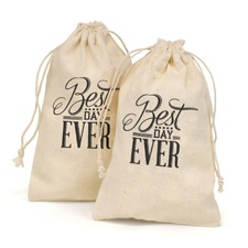 Best Day Ever - Cotton Favor Bags