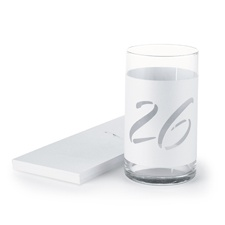 White Shimmer Table Number Wraps