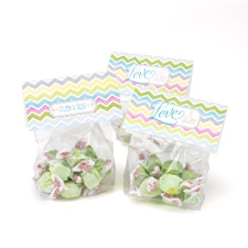 Chevron Stripe Tags with Treat Bags