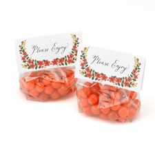Floral Tags with Treat Bags