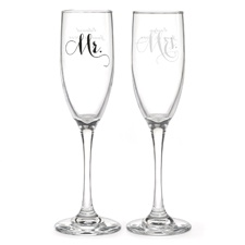 Mr. and Mrs. Elegant Toasting Flutes