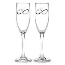 Infinity Toasting Flutes