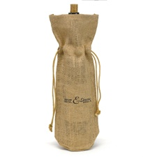 Mr. & Mrs. Burlap Wine Bags