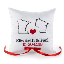 State Your Love Ring Pillow