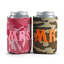 Mr. and Mrs. Camo Can Coolers