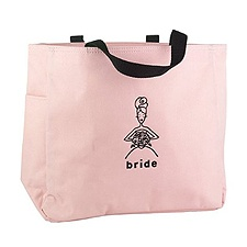 Pink Bride's Tote Bag