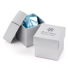 Silver Shimmer Two-Piece Favor Boxes
