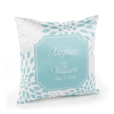 Open Flower Ring Pillow - Lagoon - Pillow