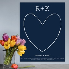 Our Story Keepsake Canvas - Navy