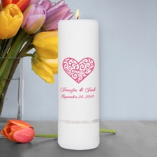 Vintage Heart Unity Candle