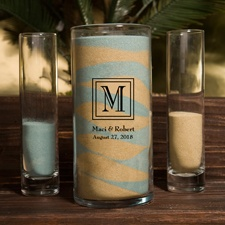 Classic Monogram Unity Sand Ceremony Set