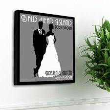 Couples Studio Canvas Print - Oyster