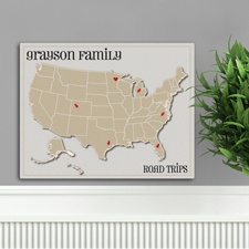 Heart at Home Map Canvas Print