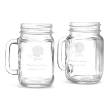 Just Beachy Drinking Jars