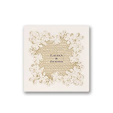 Lace Finish - Ecru - Cocktail Napkin