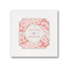Lace Love - White Dinner Napkin
