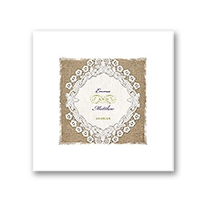 Embroidered Embrace - White Dinner Napkin