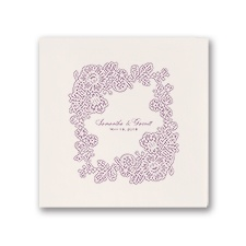 Lacy Corners - Ecru - Dinner Napkin
