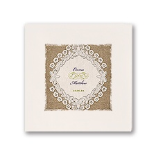 Embroidered Embrace - Ecru Dinner Napkin