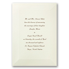 Timeless Ecru Wedding Invitation