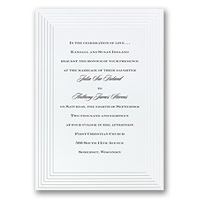 Timeless White Wedding Invitation