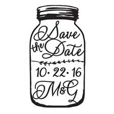 Mason Jar Custom Stamp