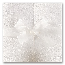 Ties That Bind White Wedding Invitation