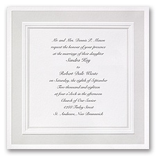 Satin Touch Wedding Invitation