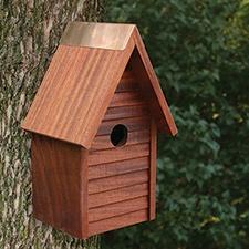 Copper Trim Bird House