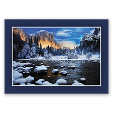 Winter Sunset at El Capitan Card