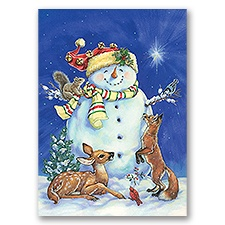 Jolly Snowman Card