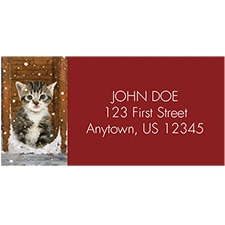 Meowy Christmas Address Labels