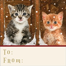 Meowy Christmas Gift Tags