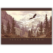 Soaring Bald Eagle Card