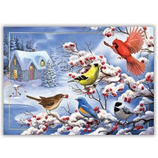 Winter Birds Card