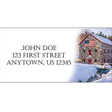American Winter Address Labels