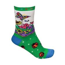 Designer Socks - Ladybug Garden
