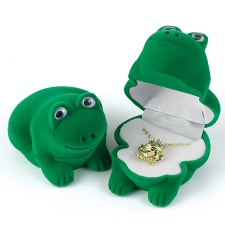 Frog Necklace in Velour Box